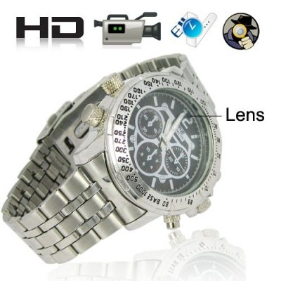 Fashionable 4GB Storage Spy DVR watch with High-capacity Li-ion Battery
